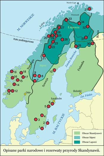 Przewodnik Skandynawia Parki Narodowe I Rezerwaty Przyrody